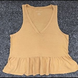 American Eagle Outfitters Babydoll Crop Top Size S